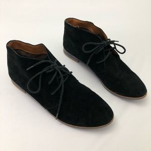 Dolce Vita Shoes - Dolce Vita Suede Black Lace Up Flat Ankle Booties
